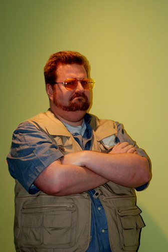 me dressed as Walter Sobchack from The Big Lebowski