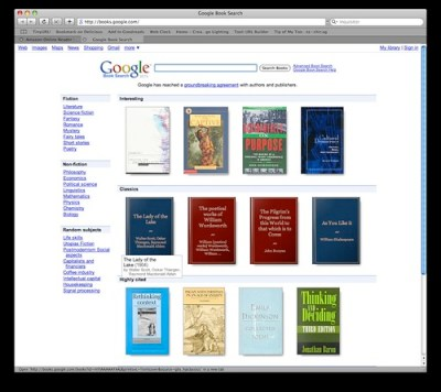 Emerging from Google book search