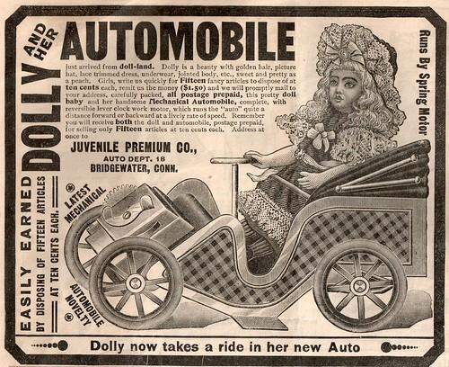 Vintage ad Dolly Automobile by HA! Designs - artbyheather.