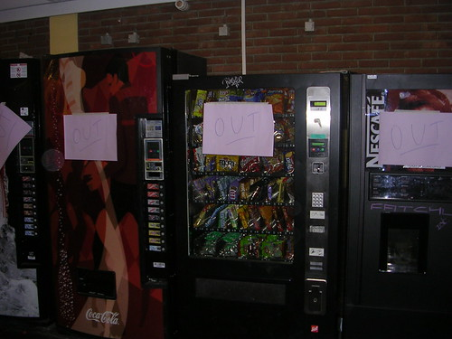 ULB vending machines out of order @FOSDEM2008