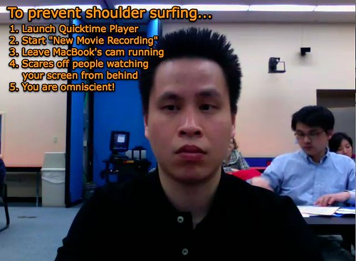 How to stop shoulder surfers...