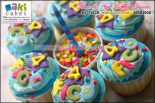 Name & Age Bday Cupcakes - Maki Cakes