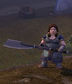 An axe as big as her head
