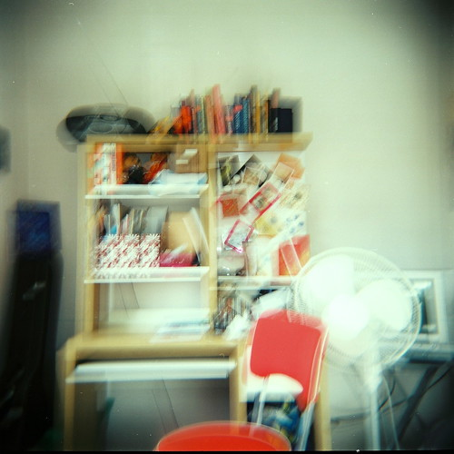 Messy desk (holga)