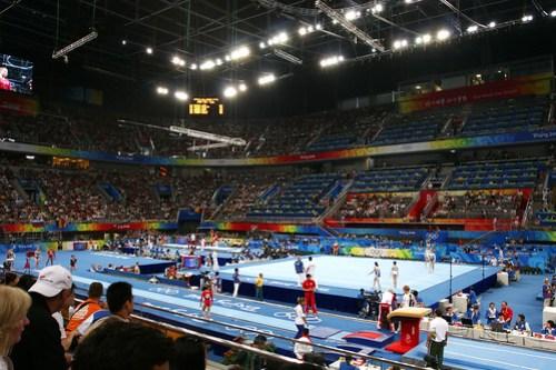 Interior of gymnastics arena