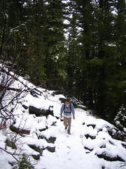 Luke on the trail.
