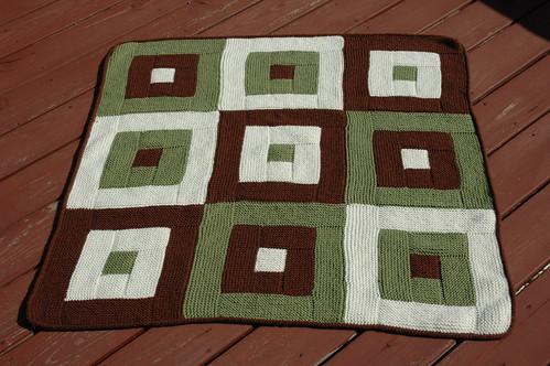 Log Cabin Squares Blanket