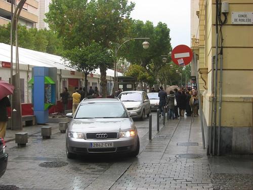Zona peatonal en Gran Capitán. Córdoba.