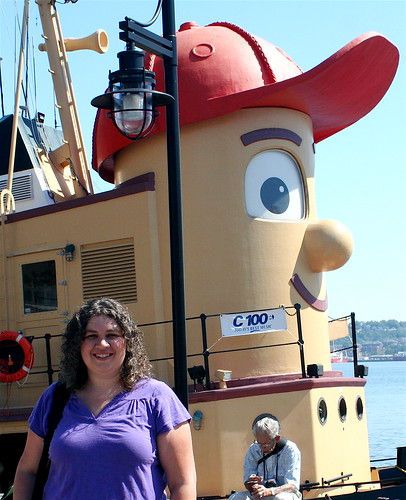 Gist and her pal, Theodore Tugboat