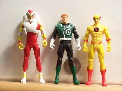 Adam Strange, Green Lantern Guy Gardner, and Professor Zoom, aka Reverse Flash