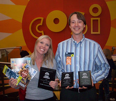 Doug and Carli with Ruby Awards