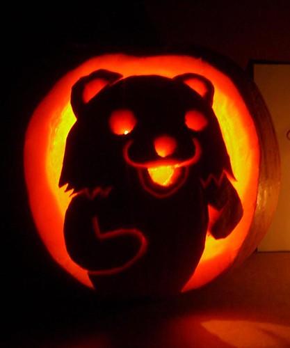 pedobear pumpkin dark