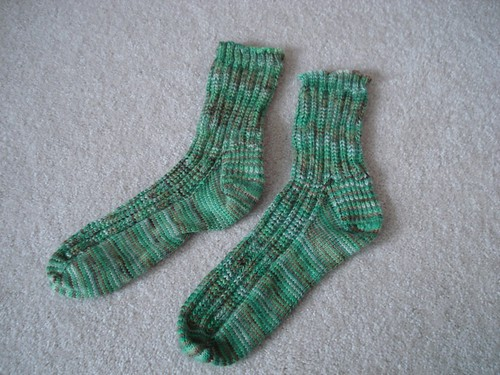 Completed Coffee Shop Socks