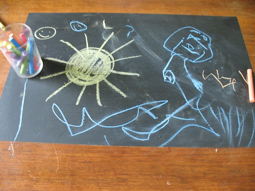 summer chalk drawing