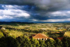 Thunderstorm over Tuscany by Peter Gorges