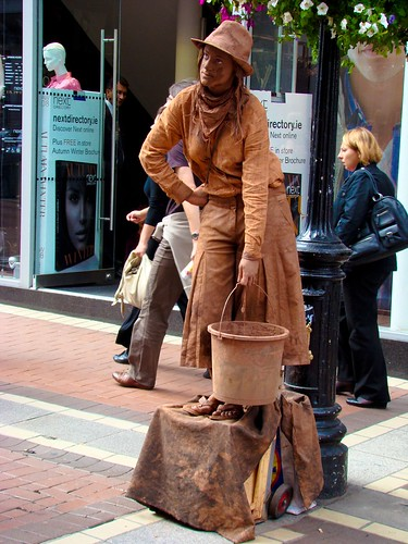 Dublin human statue accelerated learning fluency