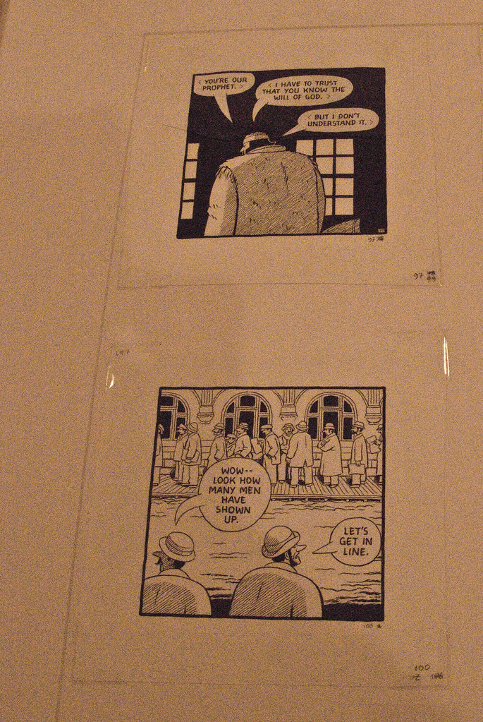 Individual panels from Chester Browns French-Canadian historical epic, Louis Riel.