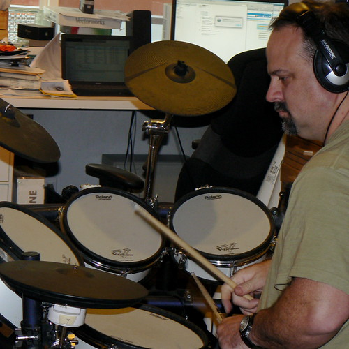 Greg with new drums