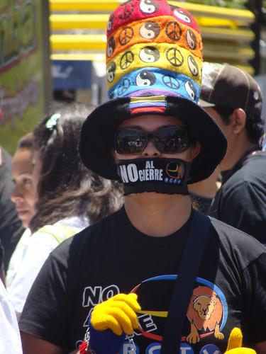 Manifestaciones estudiantiles - RCTV - Venezuela