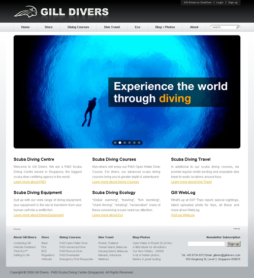 Gill Divers - Home Page