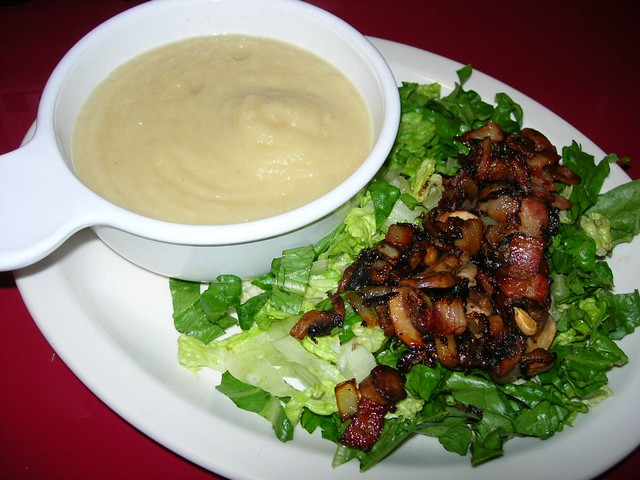 Apple-Celeriac Soup & Wilted Lettuce Salad