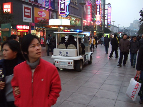 Police at Nanjing Road