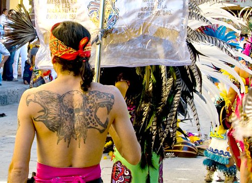 Tattooed Chichimeca Dancer - San Miguel de Allende