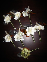 Finished boutonnieres