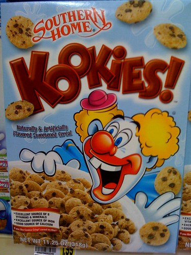 Southern Home Kookies! cereal and creepy ass clown mascot