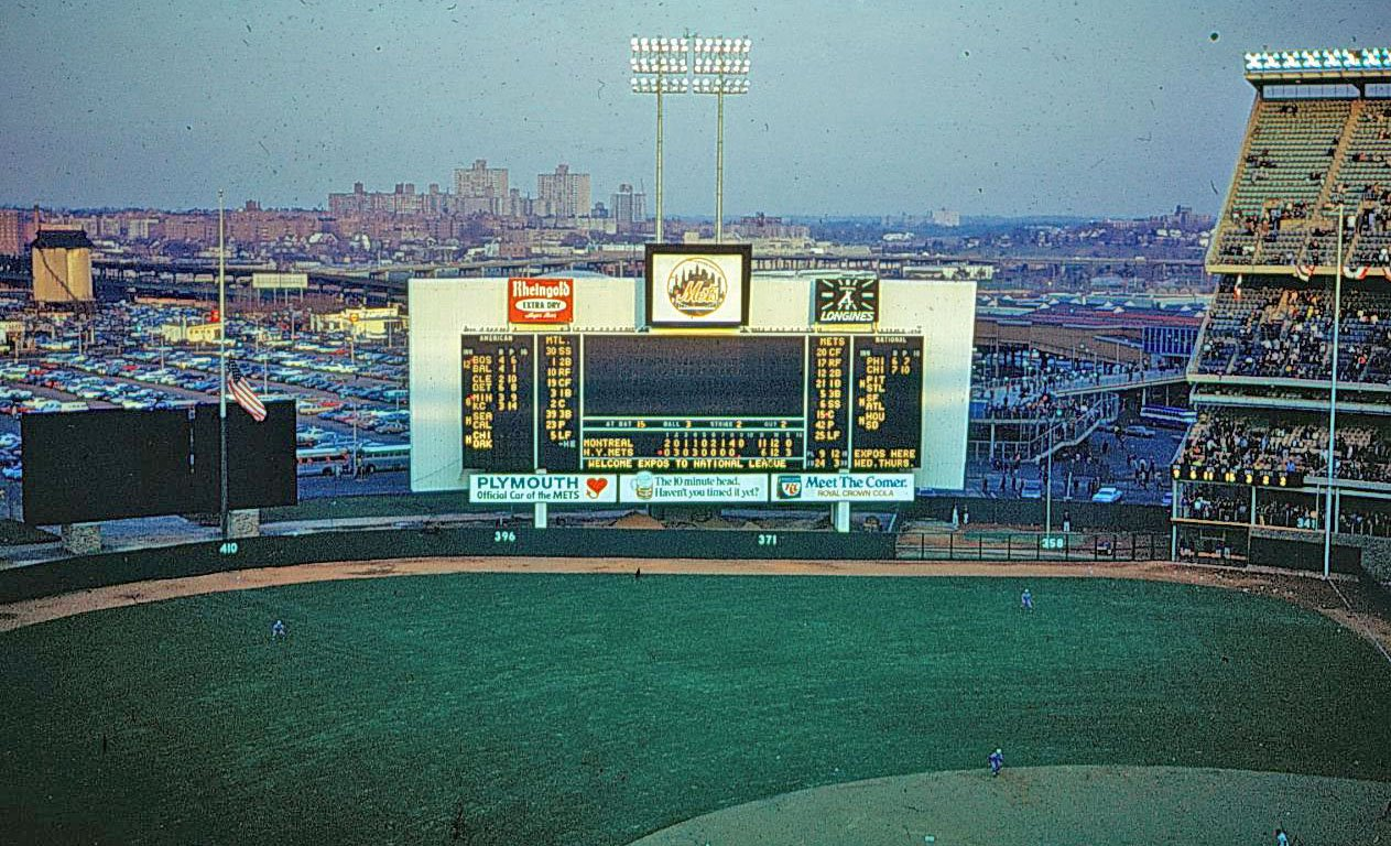 Image result for shea stadium scoreboard