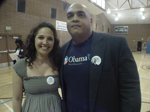 Obama delegates Estee Chandler and Erikson Albrecht