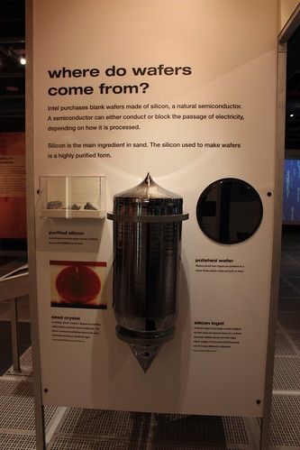 wafers of Intel Museum
