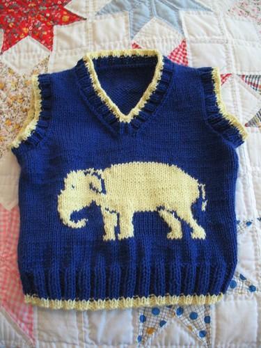 Elephant Vest - pre blocking