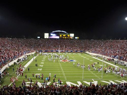 War Memorial Stadium...Right after the win!