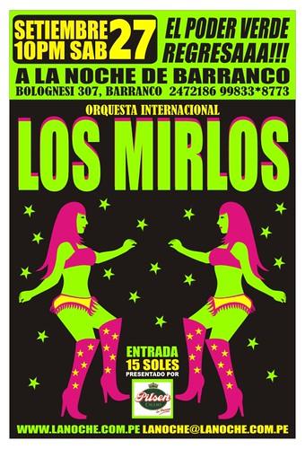 Afiche Los Mirlos Setiembre