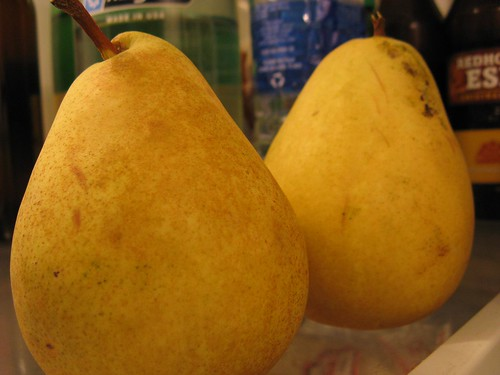 pears in the fridge