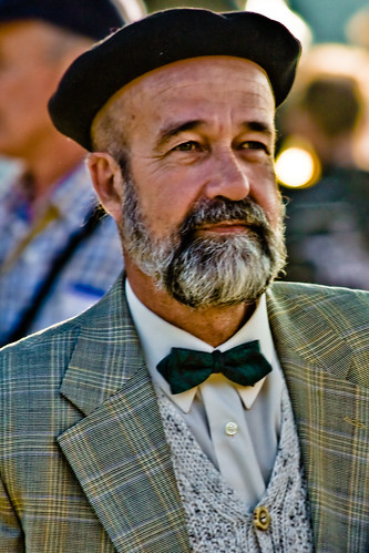 Beard, Beret And Bow Tie