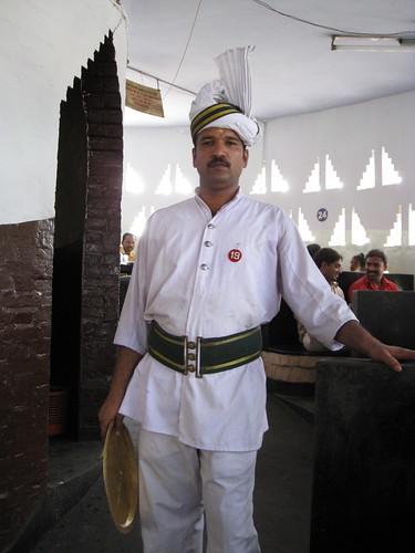 waiter at India Coffee Shop