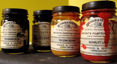 jars of paint