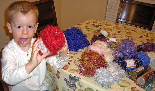 Yarn ornaments (3)