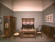 William Morris. Interior (muebles, telas y papel de las paredes hechos a mano) 1860.
