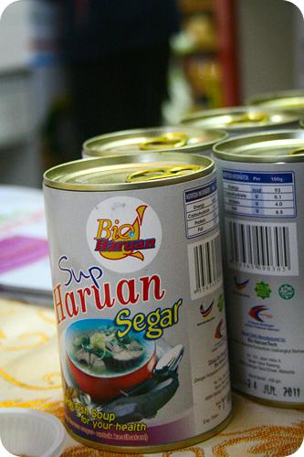 canned sup haruan
