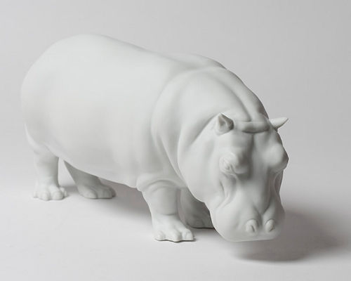 Porzellan Manufaktur Nymphenburg Hippopotamus Figure
