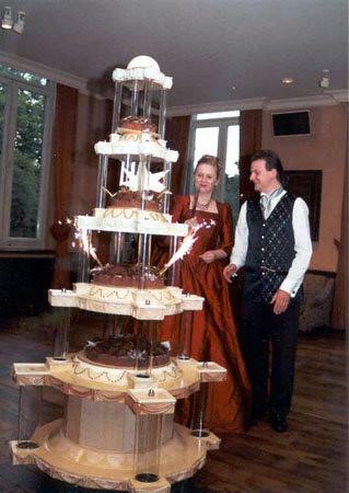 Our Big Chocolate Wedding Cake