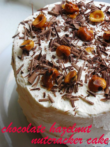 chocolate hazelnut nutcracker cake