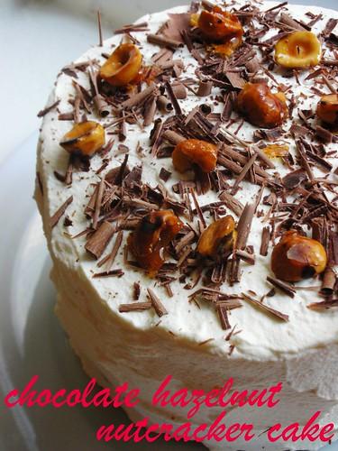 chocolate hazelnut nutcracker cake