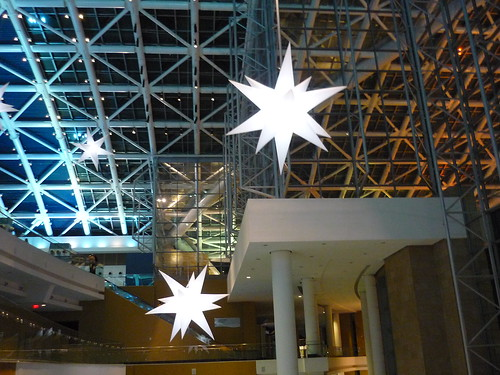 Christmas decorations at the Convention Centre, San Juan