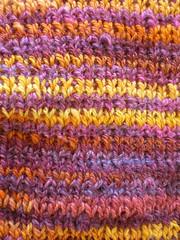 handspun scarf detail