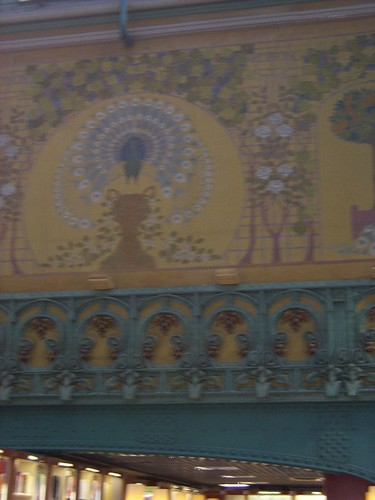Art Nouveau Mural in La Samaritaine