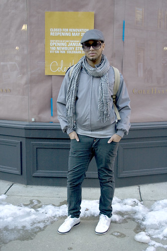 This guys a fashion major, hence the love of grey.